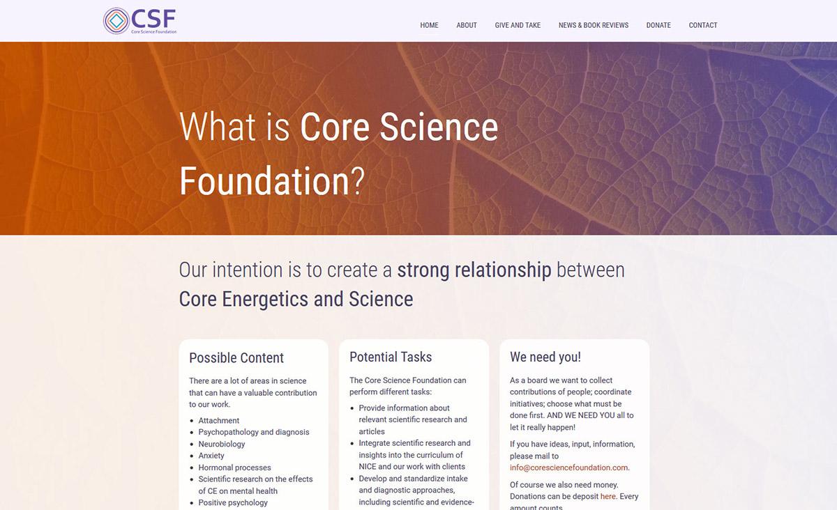 Website Core Science Foundation