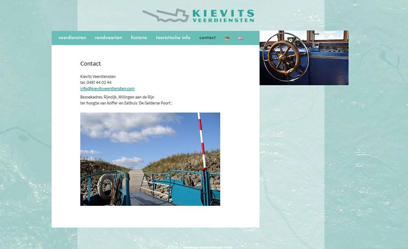 Website Kievits Veerdiensten